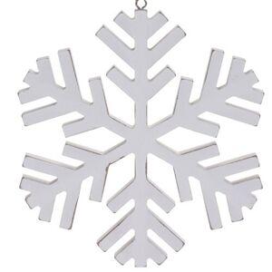 Vánoční závěsná dekorace Foligno, bílá