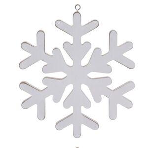 Vánoční závěsná dekorace Pienza 19 cm, bílá
