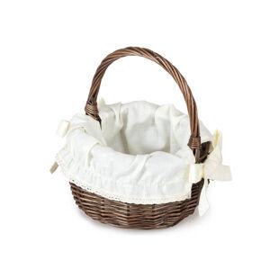 Košíček provence kulatý proutěný